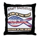 ARMY DAUGHTER Throw Pillow