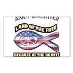 ARMY DAUGHTER Sticker (Rectangle 50 pk)