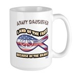 ARMY DAUGHTER Large Mug