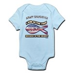 ARMY DAUGHTER Infant Bodysuit