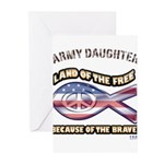 ARMY DAUGHTER Greeting Cards (Pk of 10)
