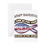 ARMY DAUGHTER Greeting Card
