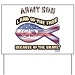 Army Son Yard Sign