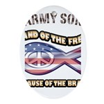 Army Son Ornament (Oval)