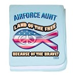 Airforce Aunt baby blanket