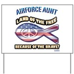 Airforce Aunt Yard Sign