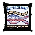 Airforce Aunt Throw Pillow