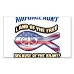 Airforce Aunt Sticker (Rectangle)