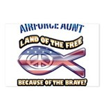 Airforce Aunt Postcards (Package of 8)