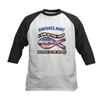 Airforce Aunt Kids Baseball Jersey