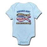 Airforce Aunt Infant Bodysuit
