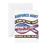 Airforce Aunt Greeting Cards (Pk of 10)