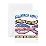 Airforce Aunt Greeting Card