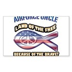 Airforce Uncle Sticker (Rectangle)