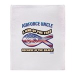 Airforce Uncle Throw Blanket