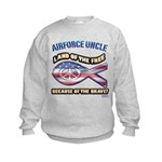 Airforce Uncle Kids Sweatshirt