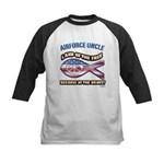 Airforce Uncle Kids Baseball Jersey