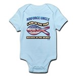 Airforce Uncle Infant Bodysuit