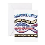 Airforce Uncle Greeting Cards (Pk of 10)