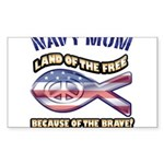 Navy Mom Sticker (Rectangle 50 pk)