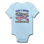 Navy Mom Infant Bodysuit