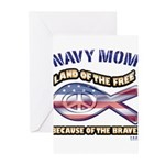 Navy Mom Greeting Cards (Pk of 10)