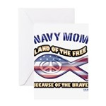 Navy Mom Greeting Card