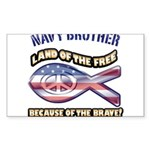 Navy Brother Sticker (Rectangle 50 pk)