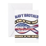 Navy Brother Greeting Cards (Pk of 10)