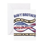Navy Brother Greeting Card