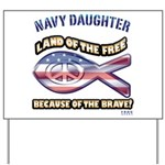 Navy Daughter Yard Sign