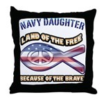 Navy Daughter Throw Pillow