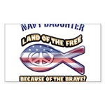 Navy Daughter Sticker (Rectangle 10 pk)