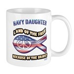 Navy Daughter Mug