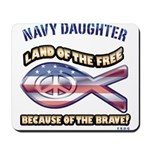 Navy Daughter Mousepad