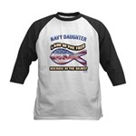 Navy Daughter Kids Baseball Jersey