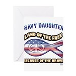 Navy Daughter Greeting Card