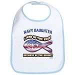 Navy Daughter Bib