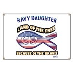 Navy Daughter Banner