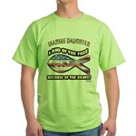 Marine Daughter Green T-Shirt