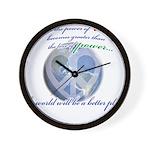 Power of Love Wall Clock