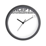 Life Begins at Conception! Wall Clock