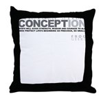 Life Begins at Conception! Throw Pillow