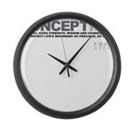 Life Begins at Conception! Large Wall Clock