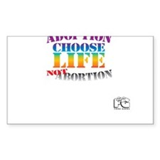 Adoption/No Abortion Decal