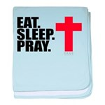 Eat. Sleep. Pray. baby blanket