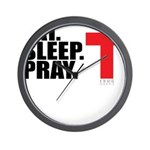 Eat. Sleep. Pray. Wall Clock