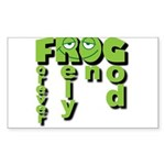 Forever Rely On God! Sticker (Rectangle)