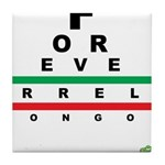 FROG eyechart Tile Coaster