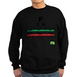 FROG eyechart Sweatshirt (dark)